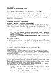 Quelques échelles et bilans spécifiques - Handicap International