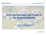 Unterrepräsentanz von Frauen in der ... - Bündnis 90/Die Grünen NRW