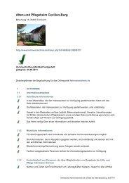 Alten-und Pflegeheim Cecilien-Burg - Heimverzeichnis