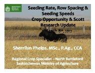 Seeding Rate, Row Spacing & Seeding Speeds - SaskCanola