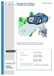 Regelung eines TDI-Motors am Beispiel des Leerlaufreglers