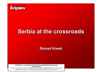 Serbia at the crossroads