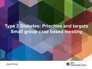Type 2 diabetes priorities and targets – David Porter