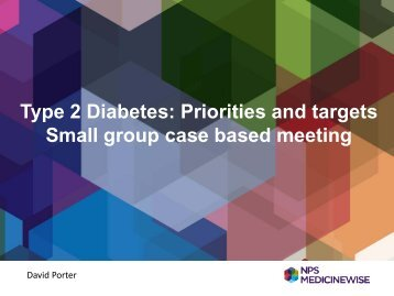 Type 2 diabetes priorities and targets – David Porter