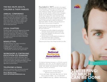 so much can be done - National Stuttering Association