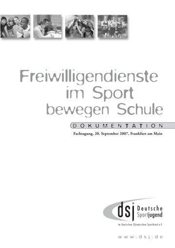 Freiwilligendienste im Sport - DSJ