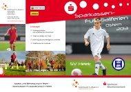 Sparkassen- Fussballferien - Erlebniswelt Fußball