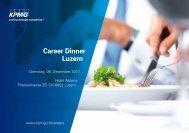 Career Dinner Luzern - Careers - Hochschule Luzern