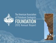 2012 Annual Report - the AAPG Foundation - American Association ...