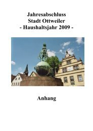 Jahresabschluss 2009 Anhang (pdf) - Ottweiler