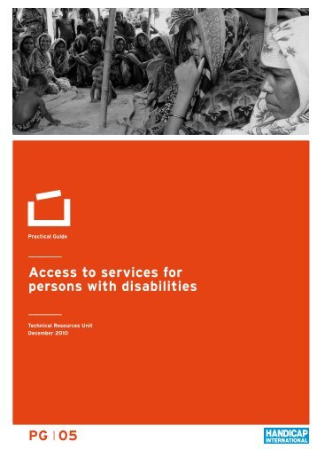 Access to services for persons with disabilities PG 05 - Handicap ...
