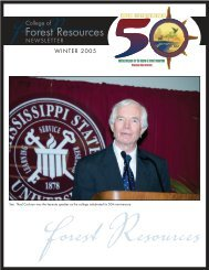 Winter 2005 - College of Forest Resources - Mississippi State ...