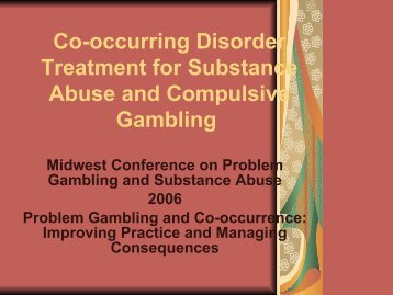 Pathological gambling neuropsychopharmacology and treatment gary simms poker