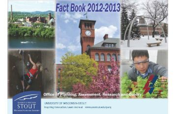 University of Wisconsin-Stout 2011-12 Fact Book