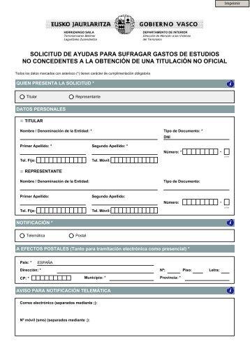 Formulario de solicitud - Departamento de Interior