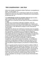 Note complémentaire du 21 Mars 2011 - Cardiologie-francophone