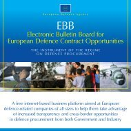 EDA EBB Brochure Feb 08 - European Defence Agency - Europa