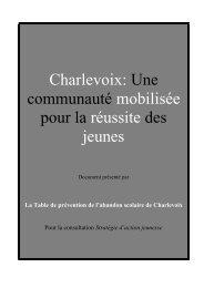 Table de prévention de l'abandon scolaire de Charlevoix