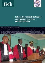 Lutte contre l'impunité en Guinée : des avancées remarquées ... - FIDH