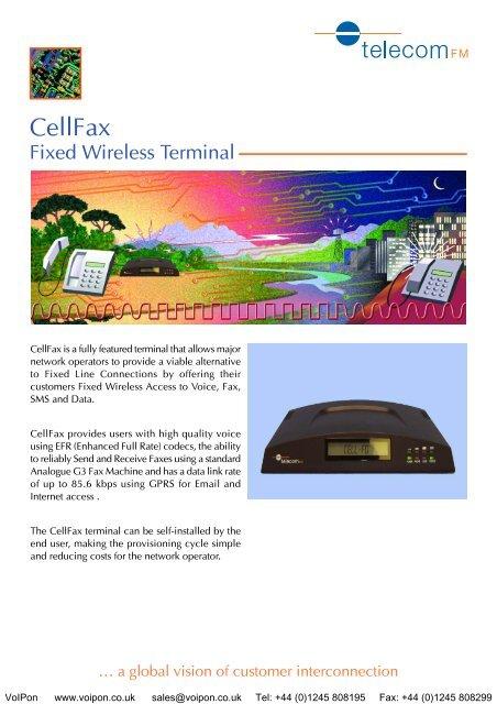 CellFax Technical Specifi