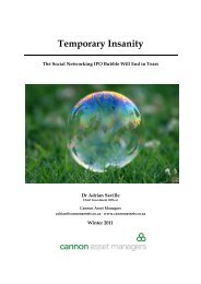 Temporary Insanity - Cannon Asset Managers