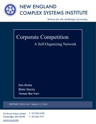 Corporate Competition - New England Complex Systems Institute