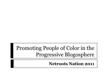 Promoting People of Color in the Progressive Blogosphere