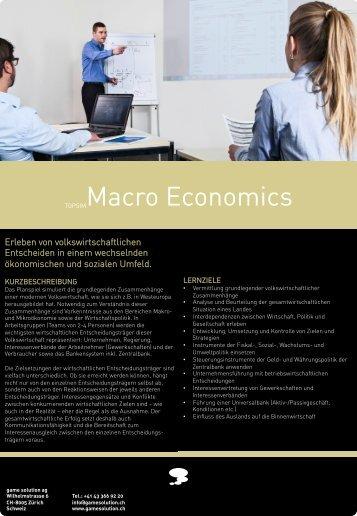 TOPSIMMacro Economics - game solution ag