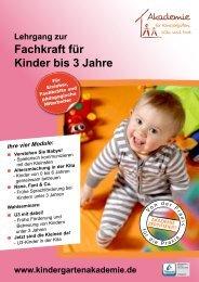 Fachkraft für Kinder bis 3 Jahre - Akademie für Kindergarten, Kita ...