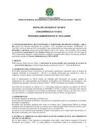 Concorrência 01/2012: ASSESSORIA DE IMPRENSA - Crea-RJ