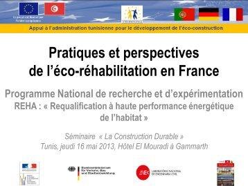 Pratiques et perspectives de l'éco-réhabilitation en France
