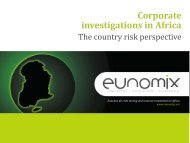 Corporate investigations in Africa - Council of International ...