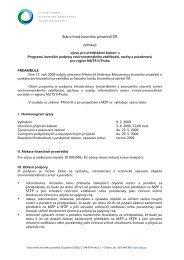 Vyhlášení programu - Státní fond životního prostředí