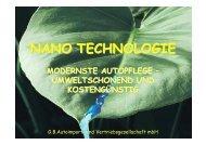Nanotechnologie ist neu und revolutionär. - MG Rover Austria