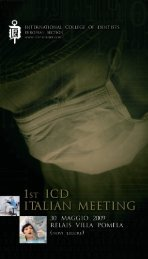 1st icd italian meeting - International College of Dentists