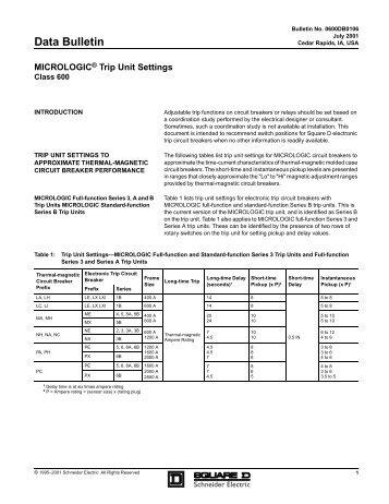 Data Bulletin - Square D