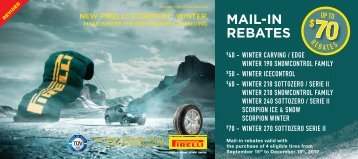 60 Mail-in Rebate with the purchase of - Canadian Tire