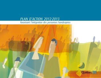 Plan d'action 2012-2013 favorisant l'intégration des personnes ...