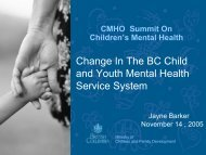 Partnerships - Children's Mental Health Ontario