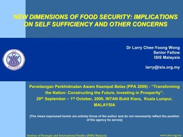 LW Food Security 29Sep09.pdf - ISIS Malaysia