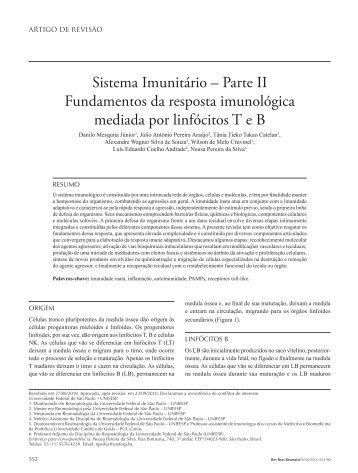 Sistema Imunitário – Parte II Fundamentos da resposta ... - SciELO