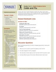 Colds and Flu (Grades 3 to 5) - KidsHealth in the Classroom