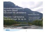 Presentasjon frå NIVA - Sogn og Fjordane fylkeskommune