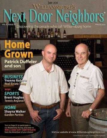 June - Williamsburg , VA Magazine , Next Door Neighbors