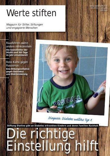 Werte stiften - Magazin für Stifter, Stiftungen und engagierte Menschen