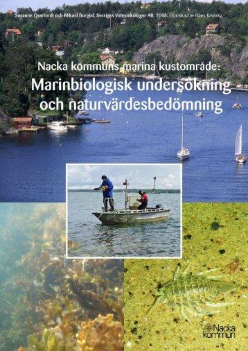 Nacka kommun: Marinbiologisk undersökning och ...