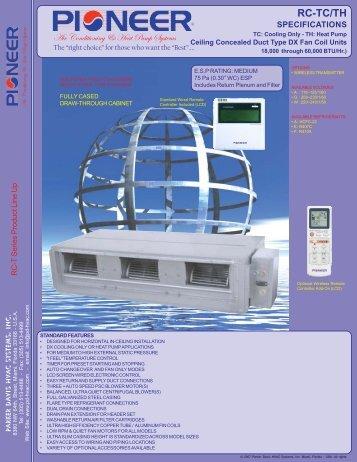 Medium ESP, Fully Cased Slim Type Ducted DX Indoor Units (PDF)