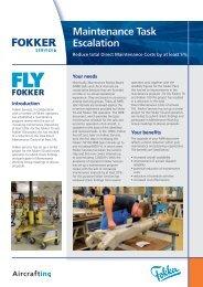 Download leaflet Maintenance Task Escalation - Fokker FLYFokker