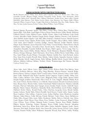 Laconia High School 1st Quarter Honor Rolls HIGH HONOR WITH ...