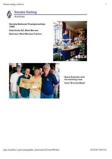 National Championships 1999 (pdf 80k) - Sonata Sailing